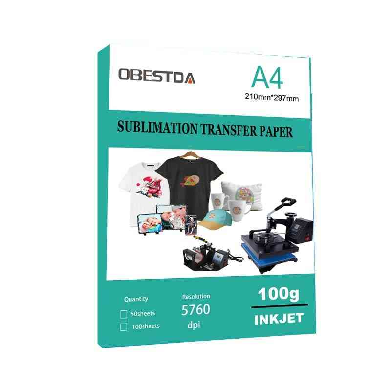 A4 Sublimation Heat Transfer Paper For Polyester, Cotton T-shirt Cushion, Fabrics Cloths