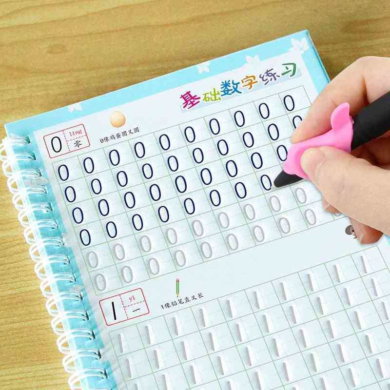 Children's 8pcs Young Copybook Groove Calligraphy Practice Board