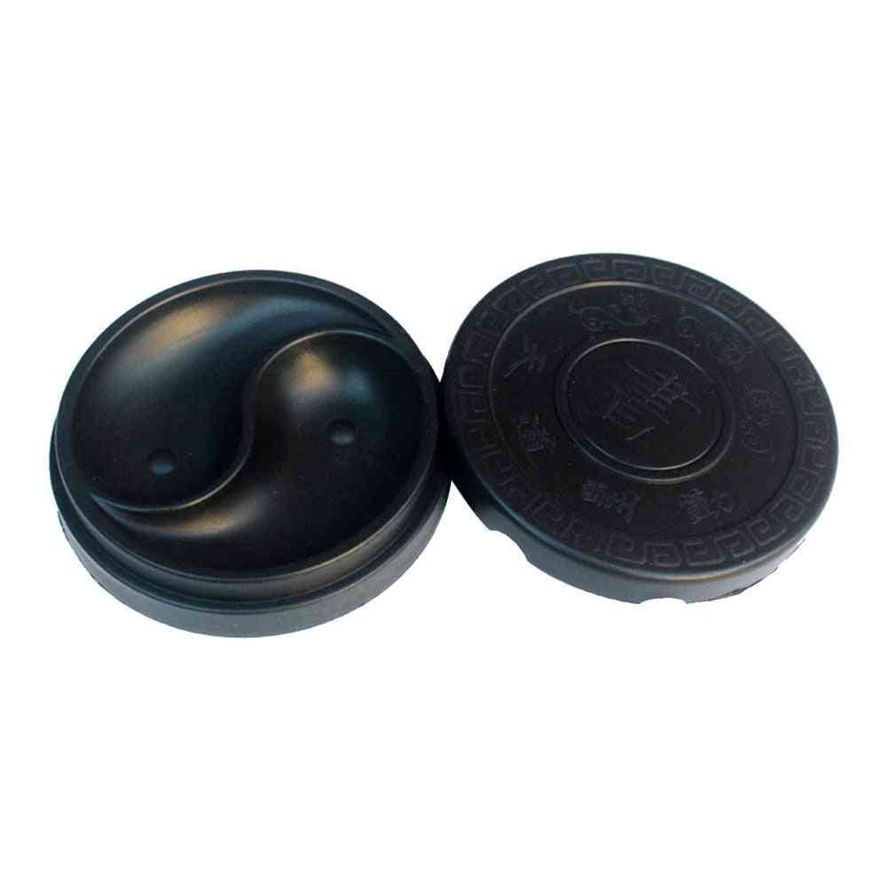 Tai Chi Shape Chinese Inkstone, Rectangle Calligraphy Grinding Ink-well