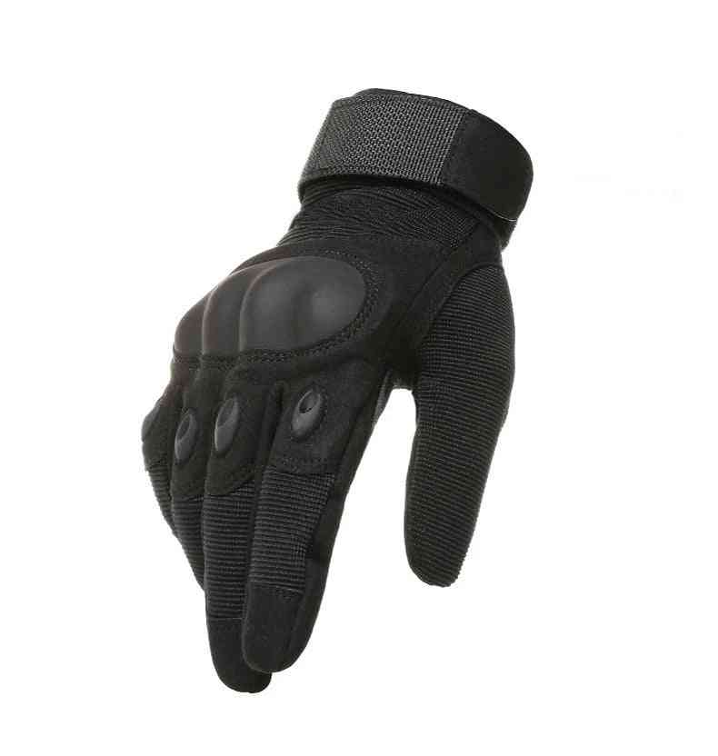 Wear Military Tactical Army Sports Outdoor Shooting Combat Carbon Hard Knuckle Full Finger Gloves
