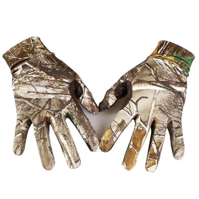 Full Finger Outdoor Touch Screen Bionic Reed Camouflage Anti-slip Fishing Shooting Hunting Gloves