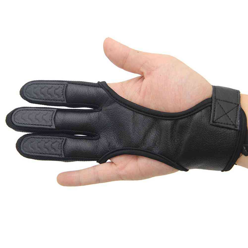 Fingers High Elastic Hand Guard Protective Archery Bow Shooting Glove Compound Hunting Accessory
