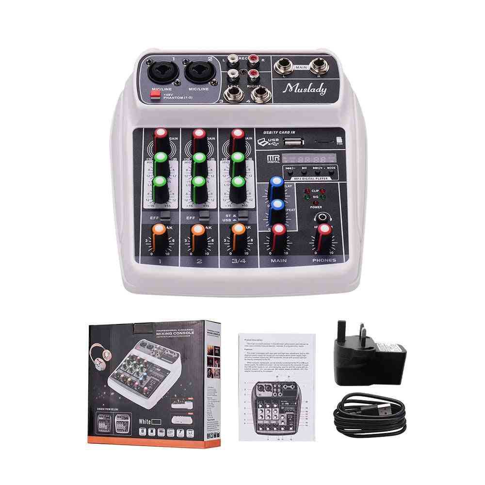 Compact Mixing Console Reverb Effect, Digital Audio, Usb Input, Phantom Power For Music Recording