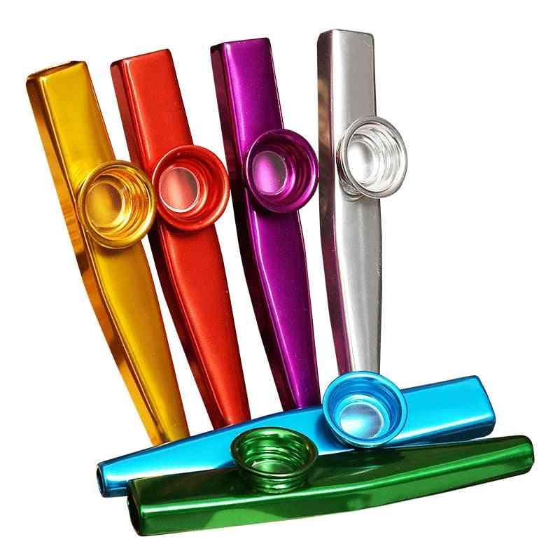 Metal Kazoo Lightweight Portable For Beginner, Flute Instrument, Music Lovers, Woodwind Simple Flutes