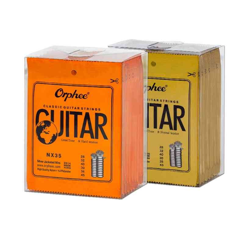 Orphee Guitar Strings Nylon Nx Series Classical Acoustic Plated Wire, Hard & Normal Tools Parts