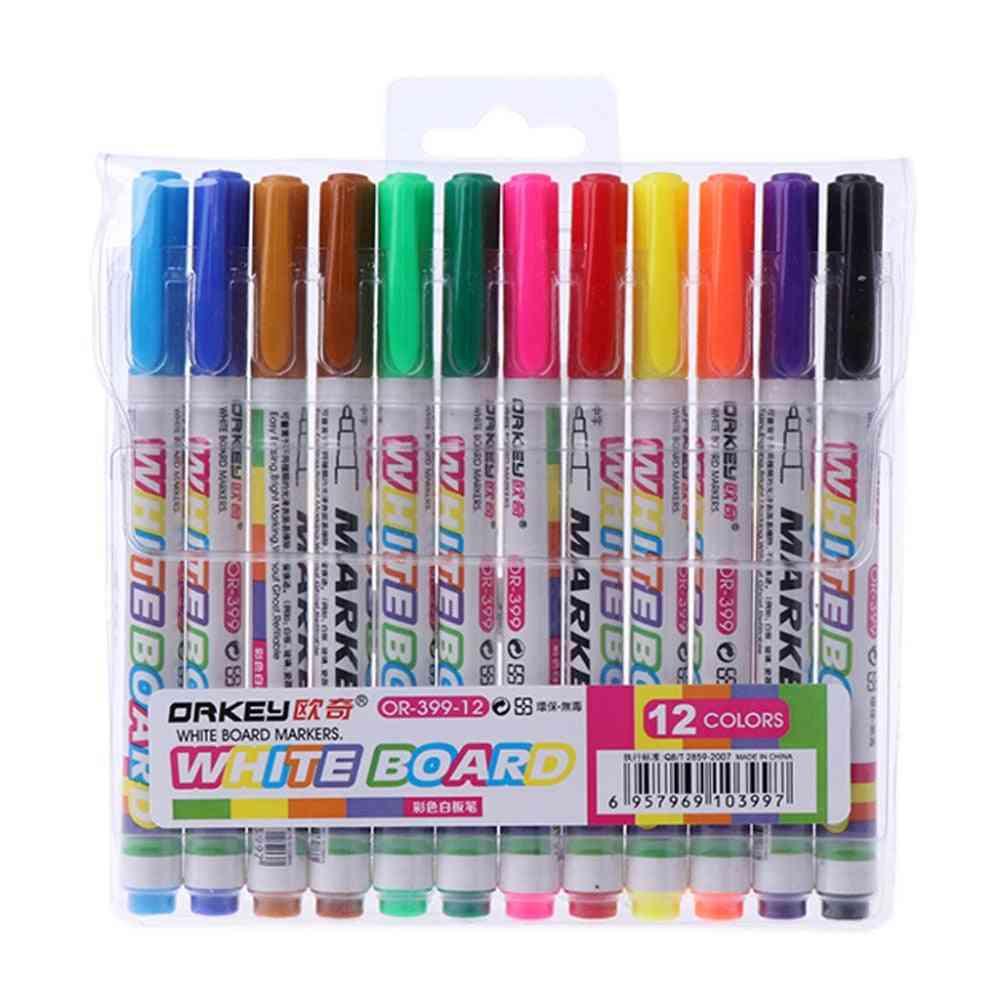 12pcs Whiteboard Marker Erasable Pen
