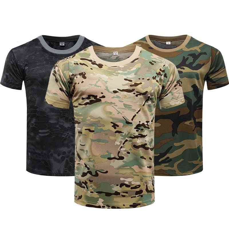 Men's Tactical Shirt, Short Sleeve Quick Dry Combat Military Army Hiking & Hunting