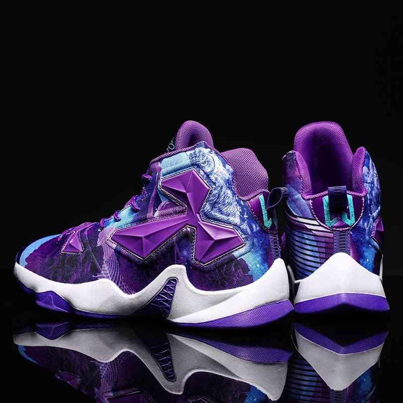 Men Basketball Shoes, High Top Retro Superstar Non-slip Outdoor Sport Sneakers