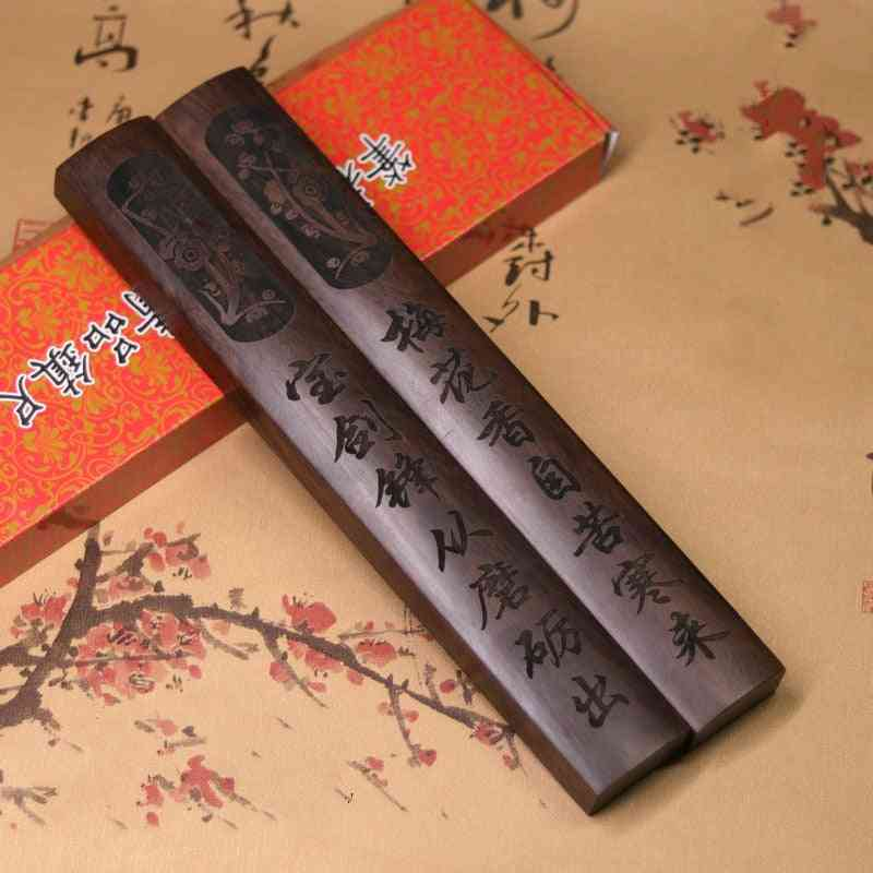 Chinese Solid Wood Classical Calligraphy Paperweights
