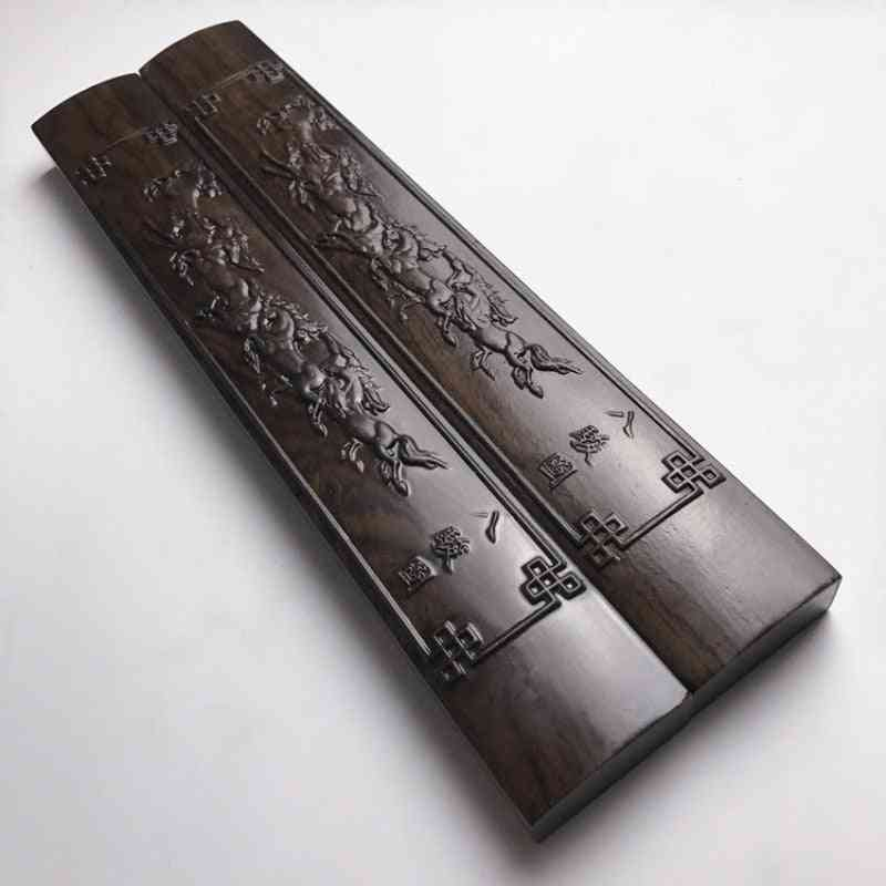 Solid Wood Chinese Calligraphy Painting Special Paperweights