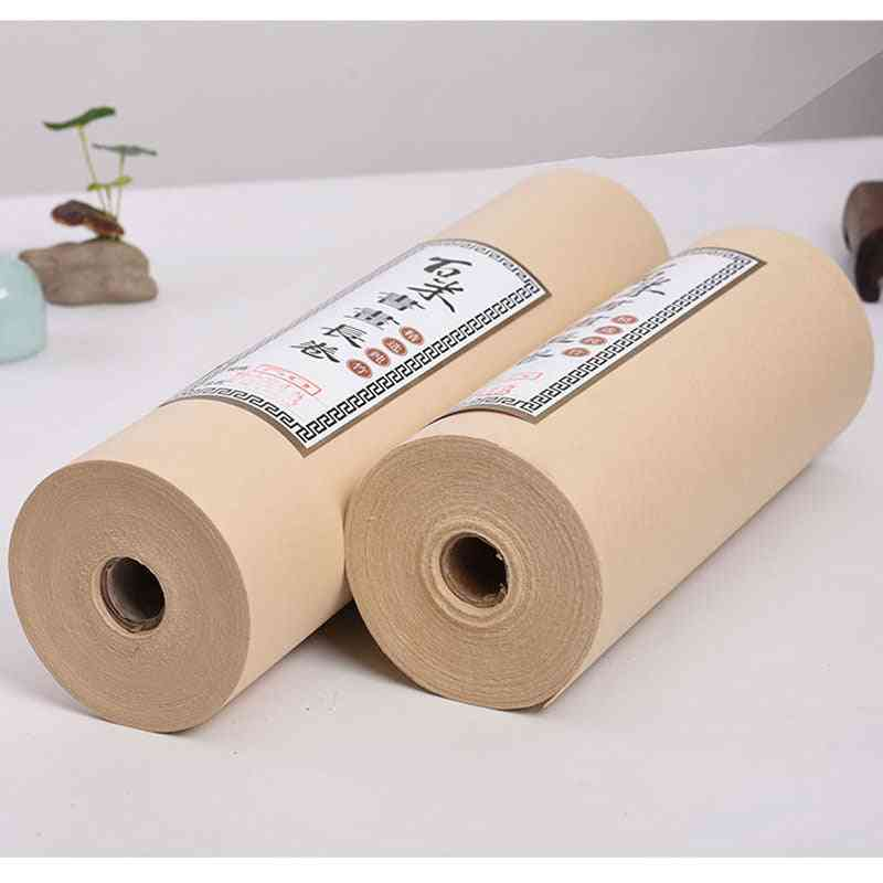 Antique  Raw Rolling Character Scroll Rice Paper Brush