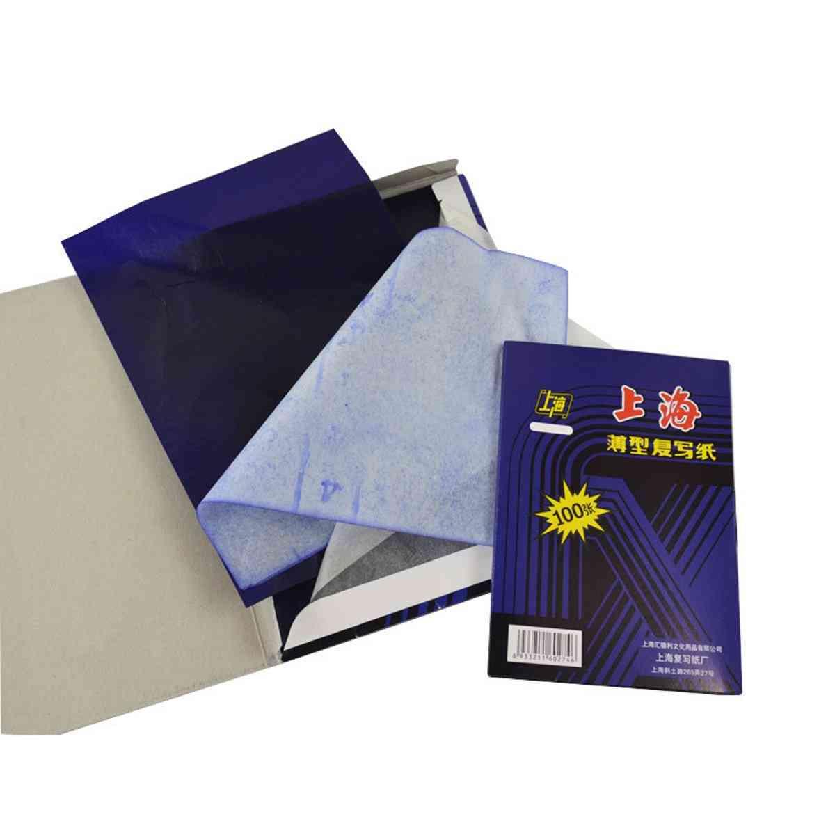A4 100-sheets Dark Blue, Carbon Hand Copier, Stencil Transfer Paper Hectograph
