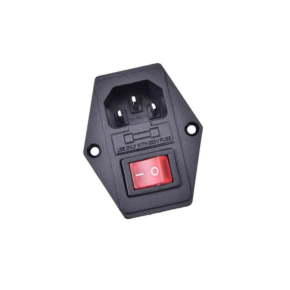 Io Switch With Fuse 3 Pin On/off Switch Socket With Female Plug