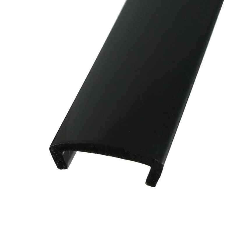 10ft 20ft Length Flexible Plastic U-mold Arcade Mame Game Machine Cabinet Black