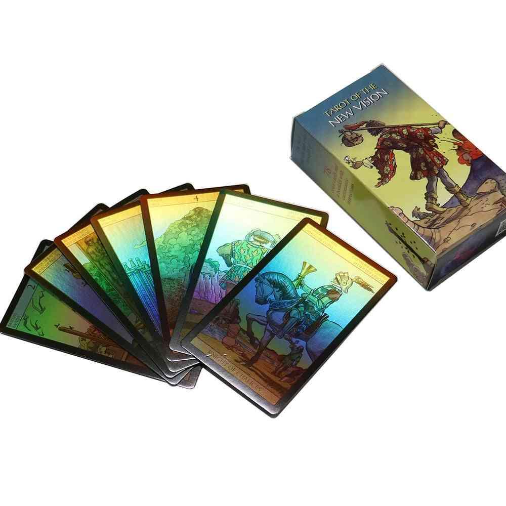 Shine Waite Tarot Cards English Spanish French Word Divination Board Game