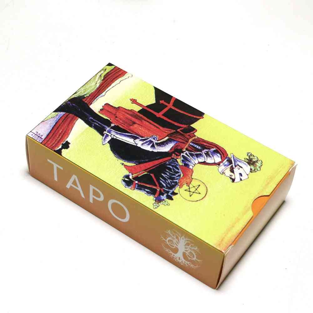 Full Russian Version Rider Tarot Cards Deck Mysterious Divination Fate Game