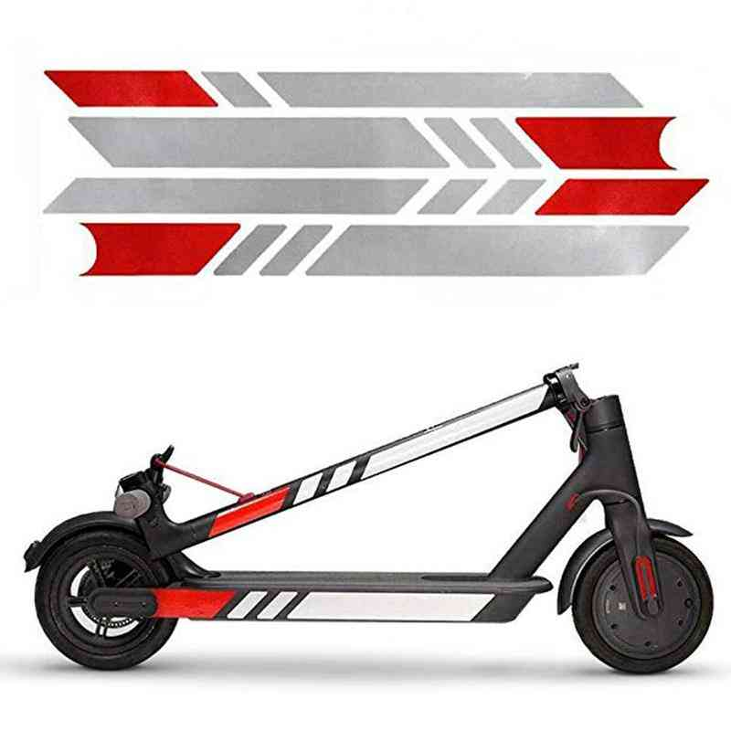 High-quality Reflective Styling Stickers For Electric Scooter Skateboard Accessories