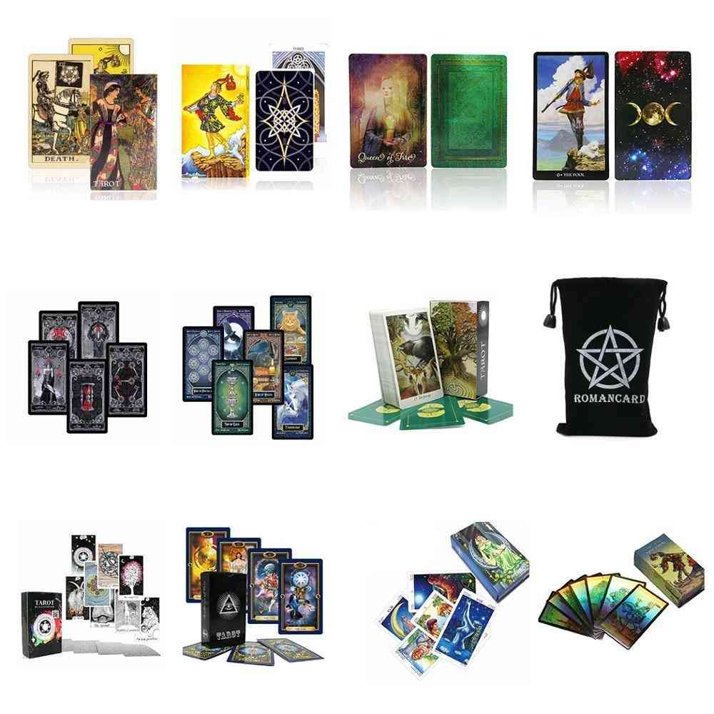 Tarot Cards Oracles Deck Mysterious Divination Witch Rider Women Game Board