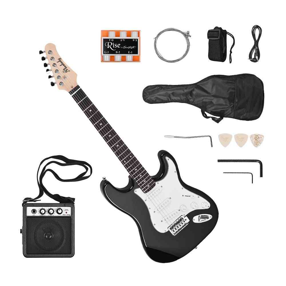 Electric Guitar Right Hand Paulownia Body Maple Neck Solid Wood With Speaker Pitch Pipe Bag