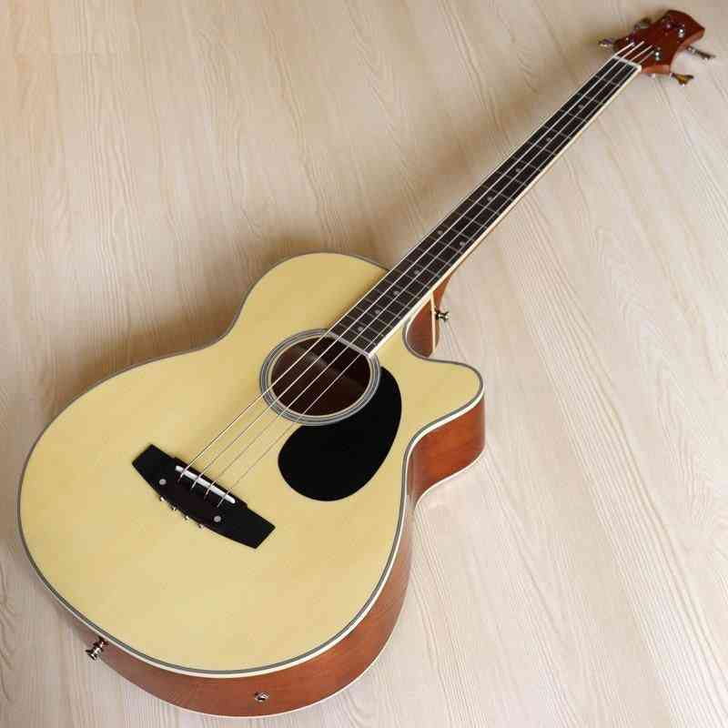 String Acoustic Electric Bass Guitar High Gloss With Bag