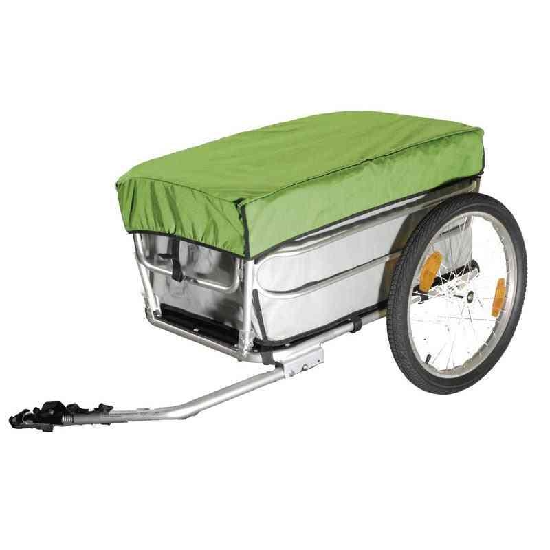 Bicycle Cargo Trailer With Rain Cover, Aluminium Alloy Frame Luggage Cart Mountain Bike Wagon