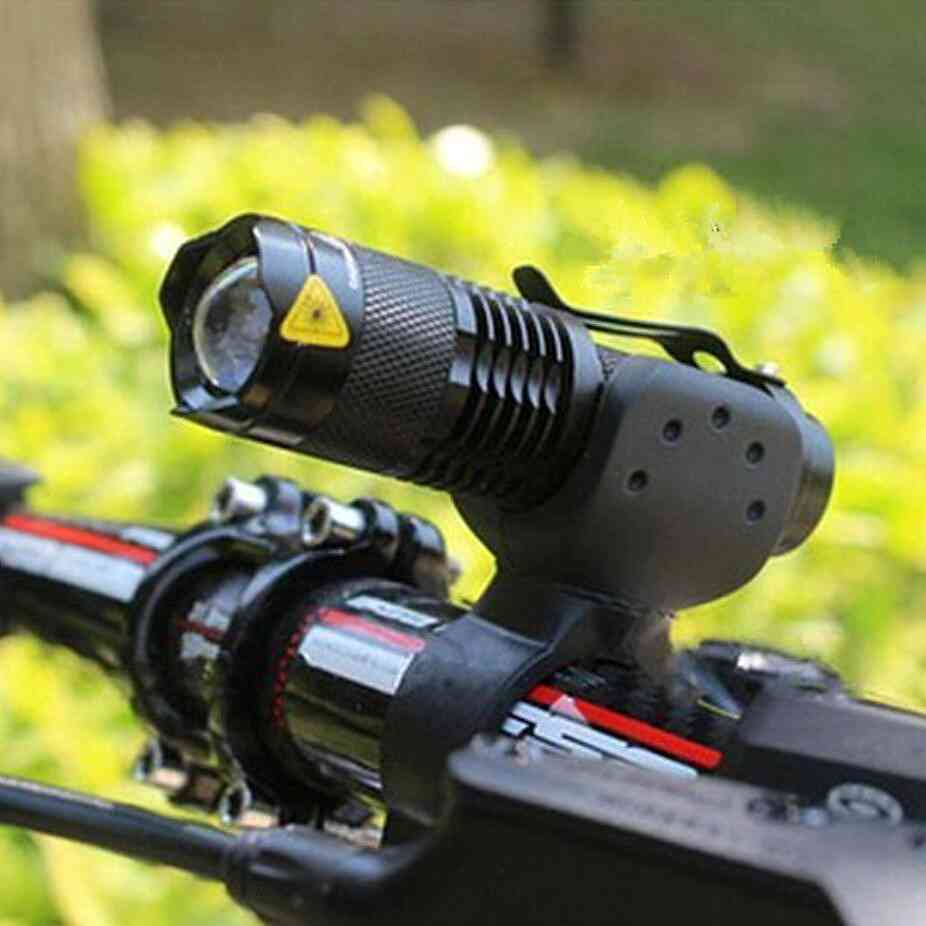 Mode Bicycle Light Led Cycling Front Lamp Torch Waterproof Zoom Flashlight