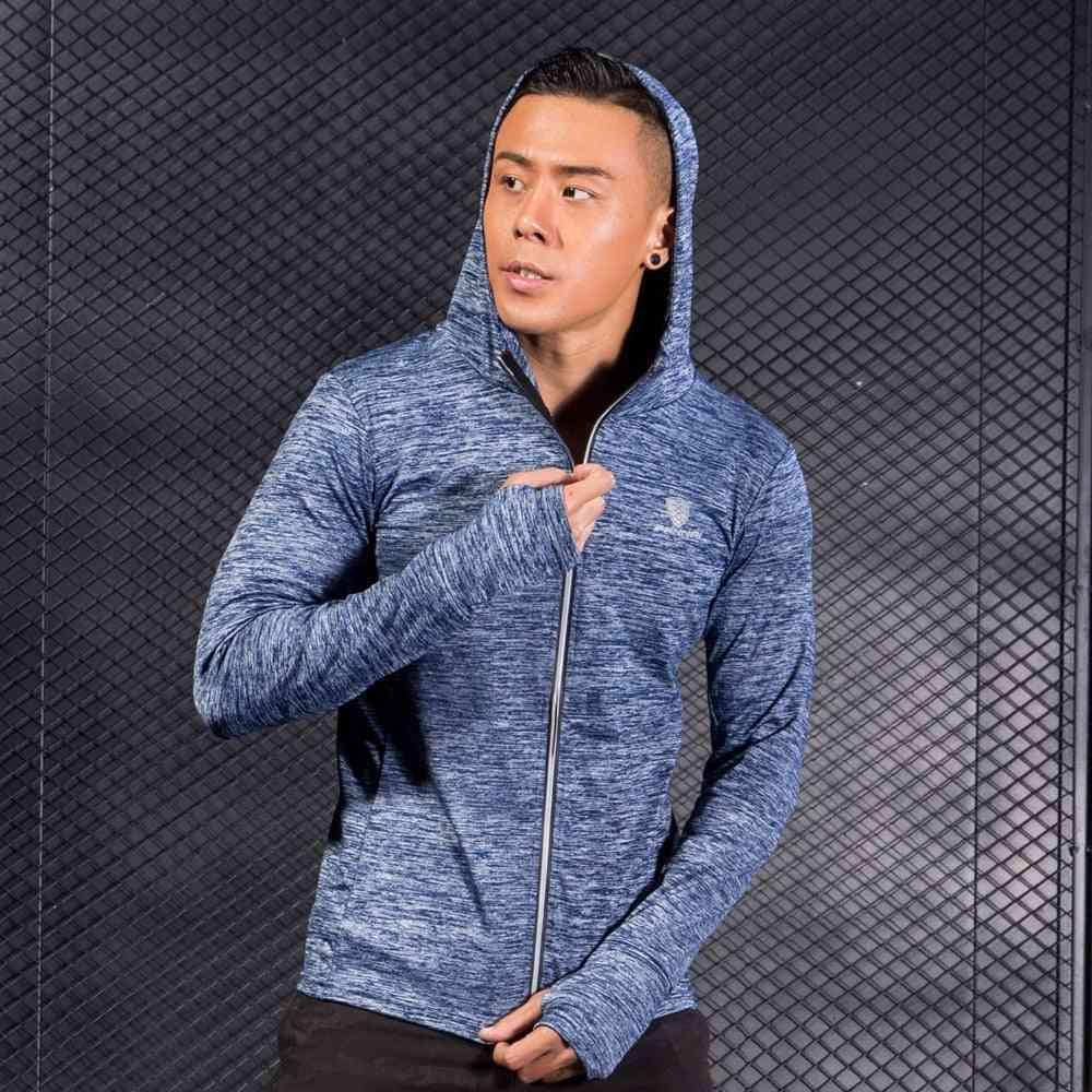 Winter & Autumn Hoodies Sport Shirt, Men Hat Zipper Running Jackets