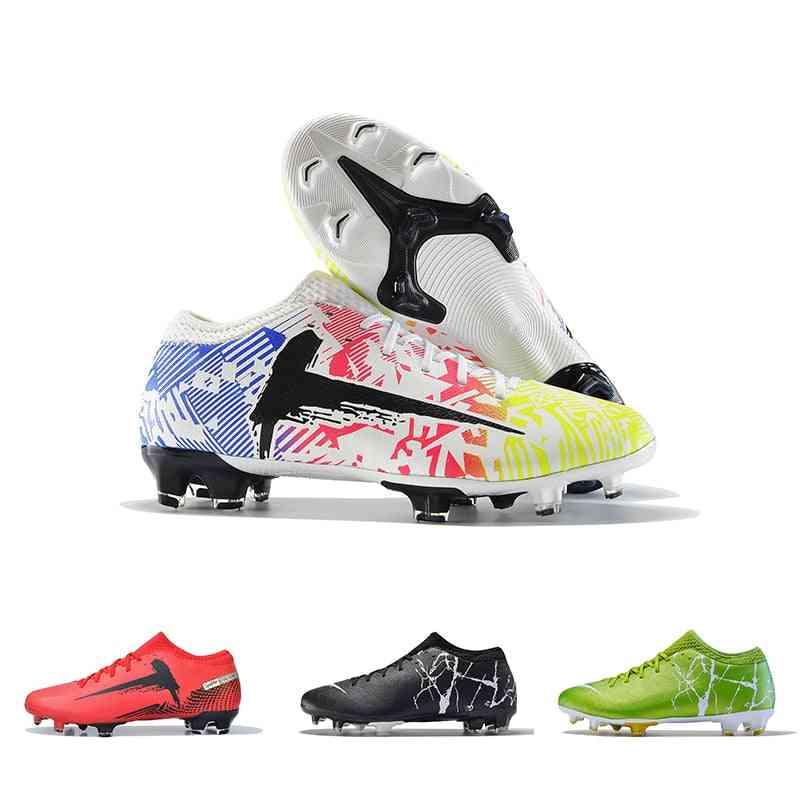 Men Fg Football Boots, Comfortable Soft Breathable Soccer Shoes