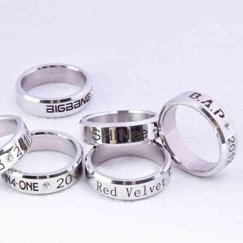 Simple Fashion Style, Kpop Stray Alloy Ring