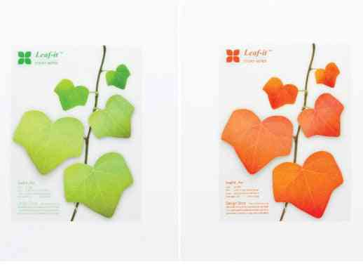 Diy Realistic Decoration Leaves Notepads, Convenient Sticky Notes Paper, Memo Sheets