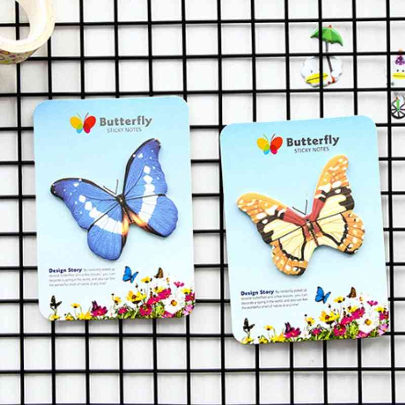 Creative Stationery Butterfly Sticky Notes, Post Planner Notepad