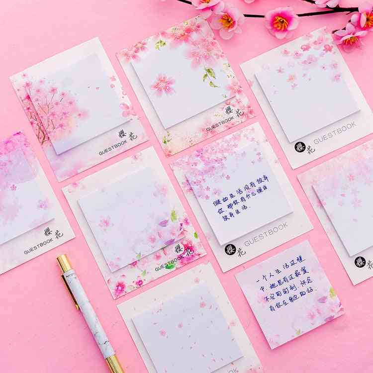 Beautiful Cherry Blossoms Sticky Notes Memo Pad