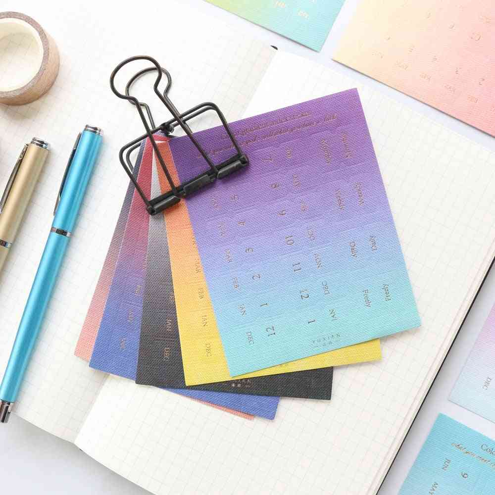 Colorful Gradient Office School - Stciky Label Note Set