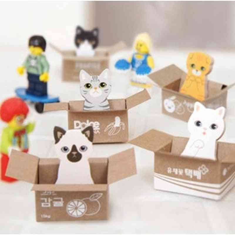 Cute Cat Diy Sticky Notes, Self-adhesive Planner Sticker Decoration Notepads