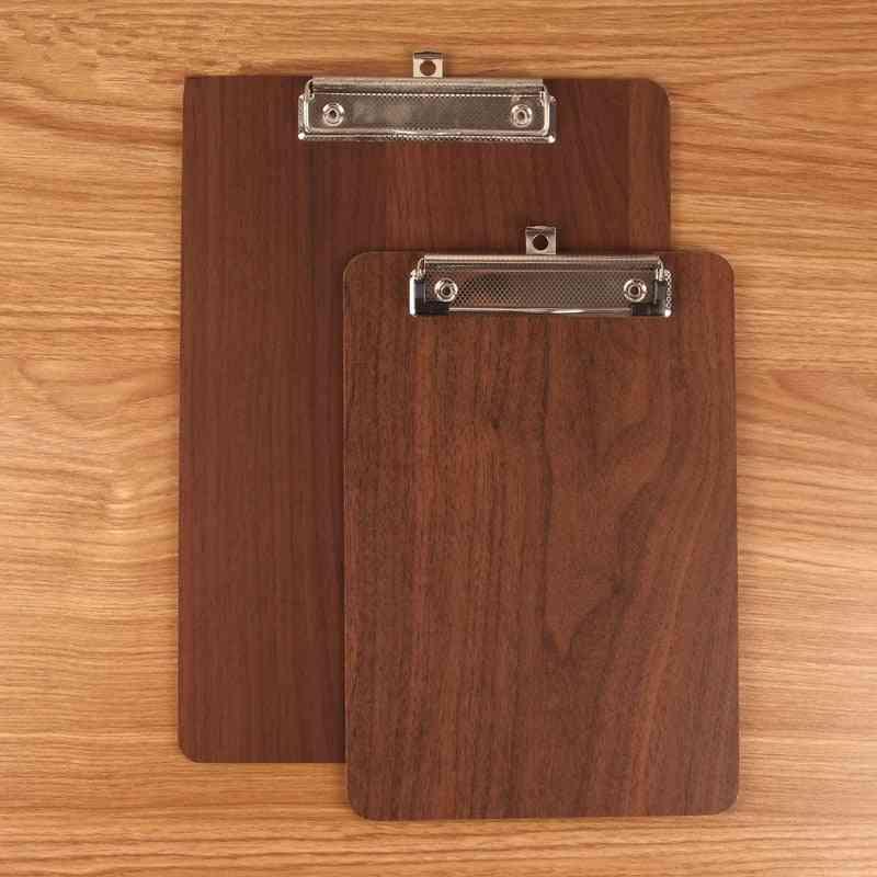 1pcs Wooden Memo Meeting Record Writing Clipboard