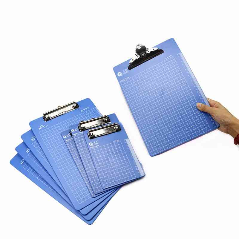 A4 Plastic Plate Holder, Paper Clip Clipboards With Ruler Scale