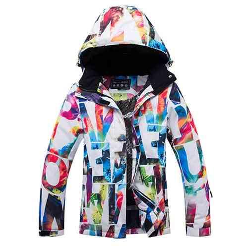 Waterproof & Windproof Snowboard Coat, Outdoor Mountain Sport Skiing Suit