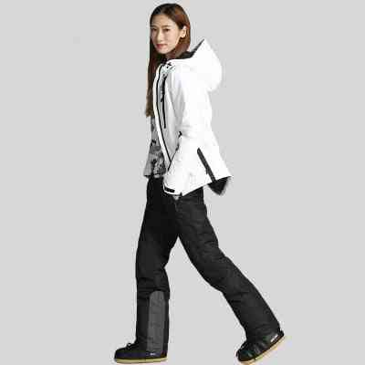 High Quality Ski Jacket & Pants Set, Snow Warm Waterproof Windproof Snowboarding Suits