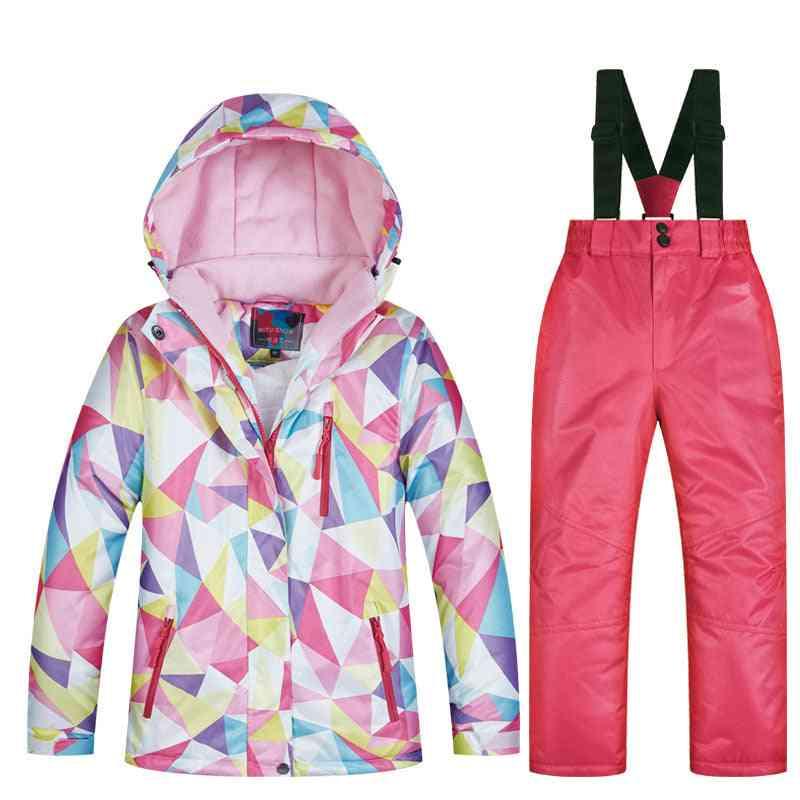 Winter Waterproof Super Warm Colorful Snow Ski Jacket And Pants