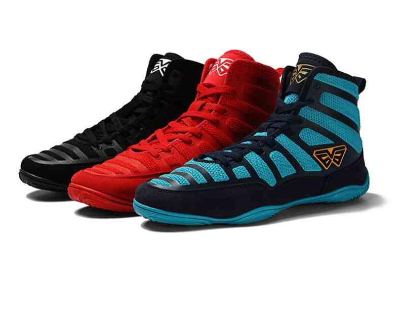 Men Rubber Outsole Breathable Professional Boxing Wrestling Shoes