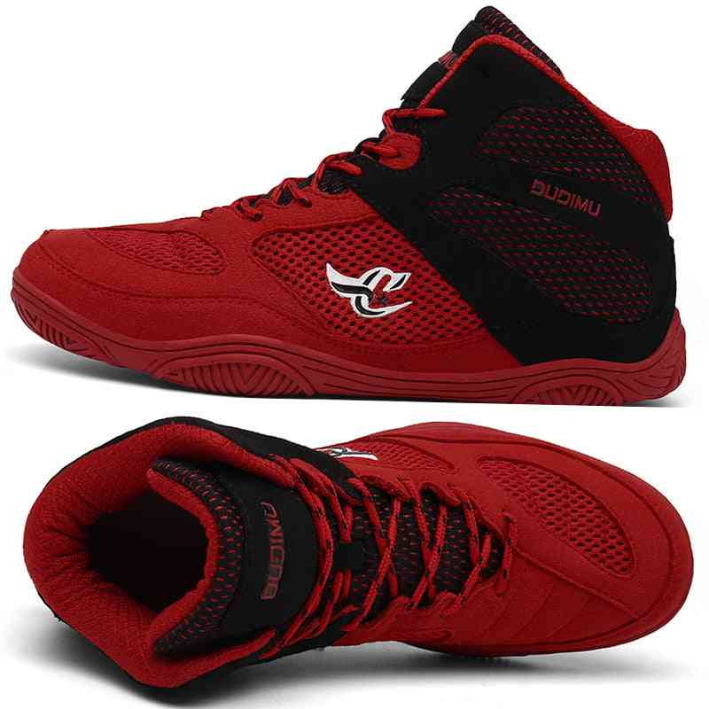 Professional Mens Wrestling/boxing Breathable Shoes