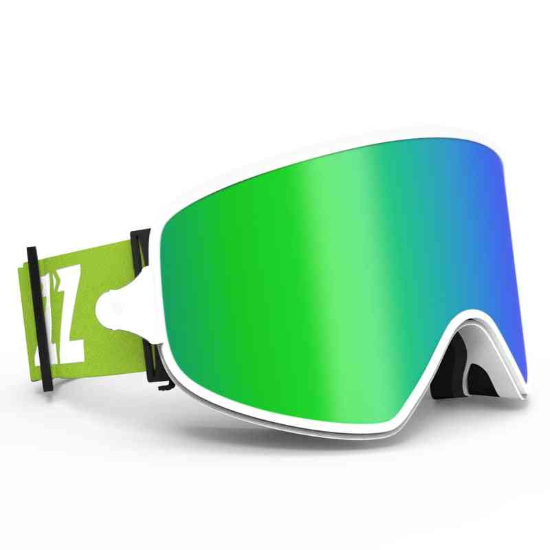 Magnetic Lens Night Skiing Anti-fog Uv400 Snowboard Goggles