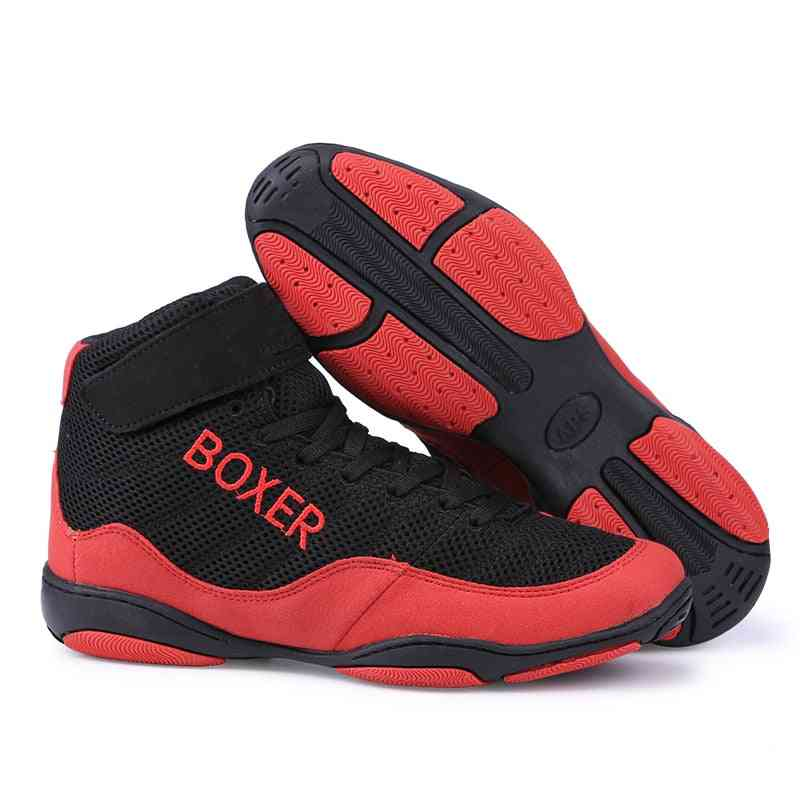 Men Professional Boxing/wrestling Fighting Weightlift Sports-shoes