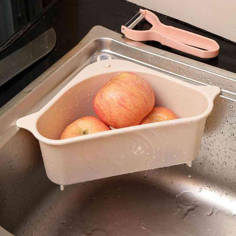 Multifunctional Corner Sink Drain Rack