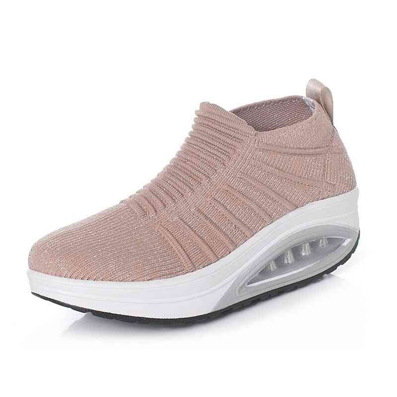 Women Slimming Shoes, Fly Wire Air Slip-on Sneakers