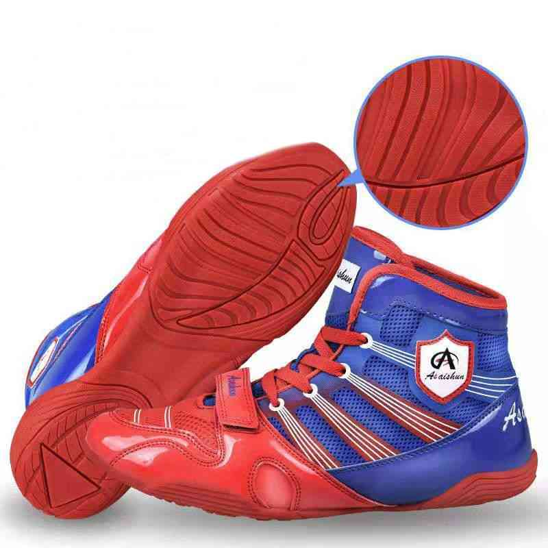 Professional Wrestling Boots For Men, Anti Slip Fighting Boxing Shoes