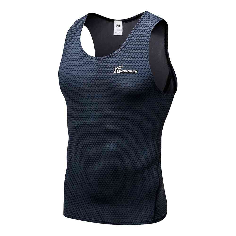 Compression Running Vest Gym Fitness Sleeveless Training Tank Tops Musculation Shirt
