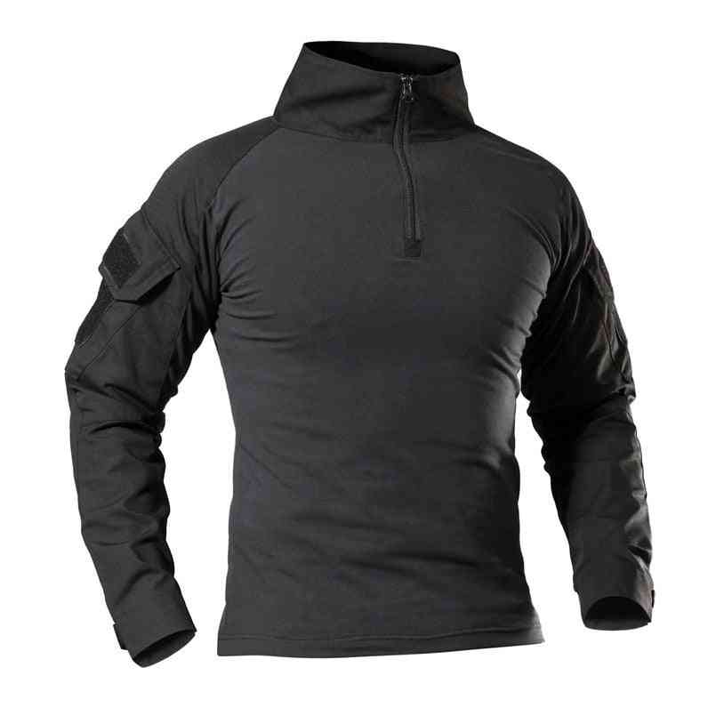 Men Outdoor Tactical Military Hiking T-shirts, Male Army Camouflage Long Sleeve Sports Clothes