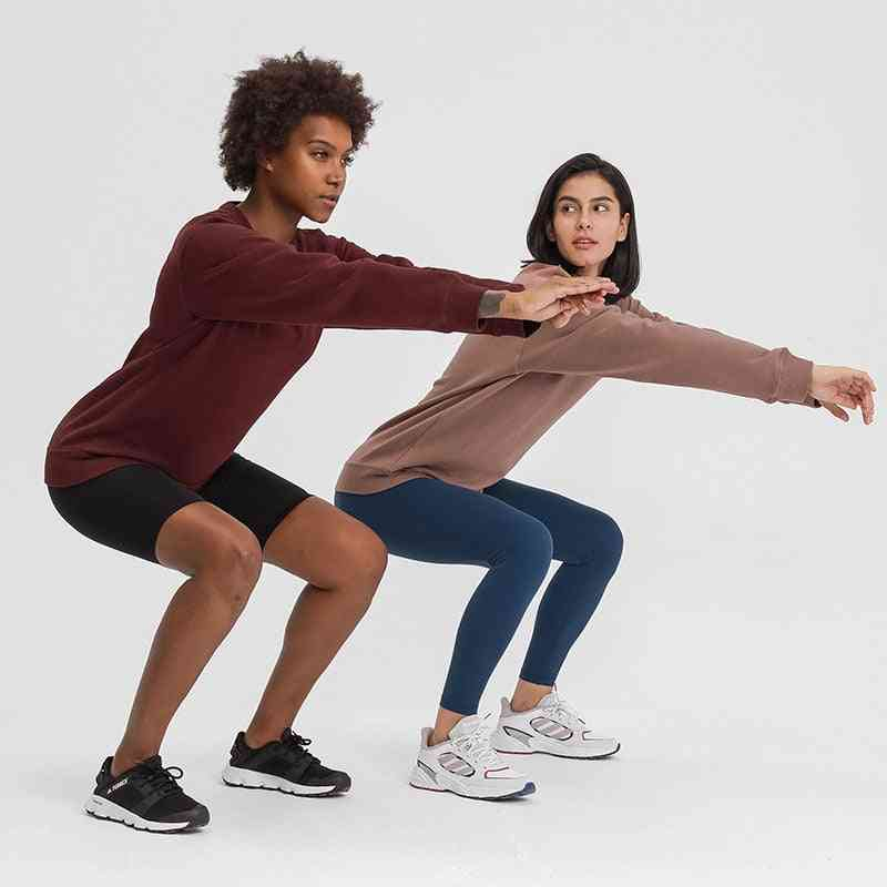 Outdoor Sport Long Sleeve Sweatshirts, Yoga Loose Fit Gym Fitness Shirt