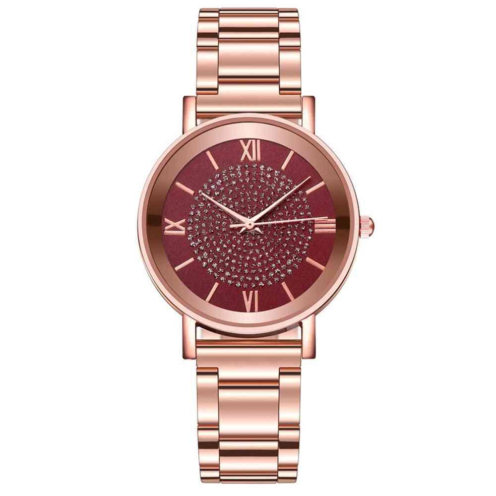 Women Luxury Diamond Ladies Wrist Watches Magnetic Women Bracelet Watch